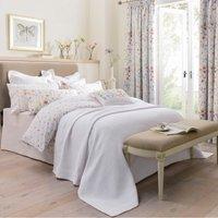 Dorma Wildflower Matalasse Bedspread White