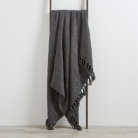 Chunky Chelsea Charcoal Throw Charcoal