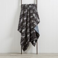 Plush Fur Grey Throw Grey
