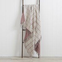 Harrison Mauve Throw Mauve