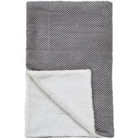Chenille Spot Grey Throw Grey