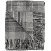 Grey Tweed Throw Grey