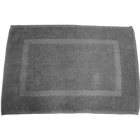 Grey Cotton Bath Mat Grey