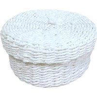 White Round Paper Basket White
