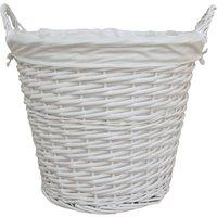 Versailles White Large Basket White