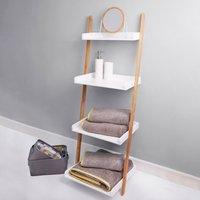 Elements White Ladder Shelves Unit White