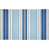 Nautical Stripe Flatweave Bath Mat Blue