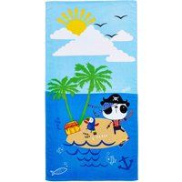 Pirate Panda Beach Towel Yellow / Blue