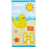 Duck Beach Towel Yellow / Blue