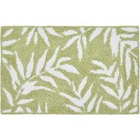 Green Leaves Bath Mat Green