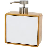 Elements Bamboo White Lotion Dispenser Bamboo