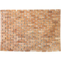 Wooden Tile Bath Mat Bamboo