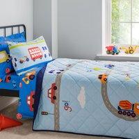 Transport Bedspread Blue