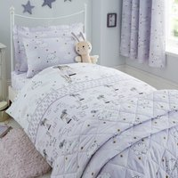 Dreamy Days Lilac Duvet Cover and Pillowcase Set Lilac Purple
