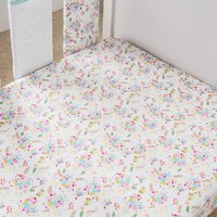 Ditsy Floral Cot Bed Fitted Sheets 2 Pack Pink / Blue