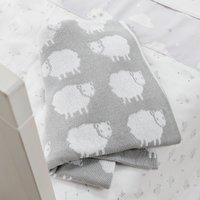 Sweet Dreams Grey Knitted Blanket Grey