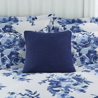 Chunky Knit Blue Square Cushion Blue