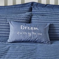 Dream Nautical Rectangular Cushion Blue