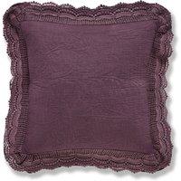 Lace Edge Plum Cushion Plum (Purple)