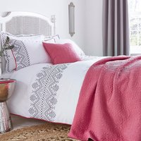 Ameya Grey Duvet Cover and Pillowcase Set Grey