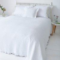 Florence White Square Cushion White