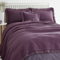 Lace Edge Plum Bedspread Plum