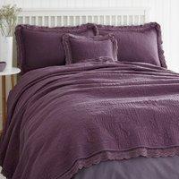 Lace Edge Plum Bedspread Plum