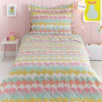 Dream Big Quilted Bedspread Pink / Blue