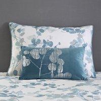 Velvet Metallic Teal Cushion Teal (Blue)