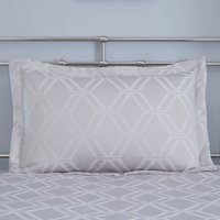 Geo Jacquard Grey Pillow Sham Grey