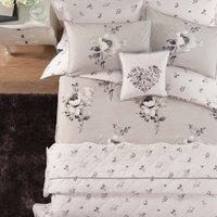 Liana Grey Reversible Duvet Cover and Pillowcase Set Grey