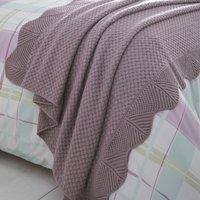 Mauve Knitted Throw Mauve (Purple)