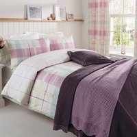 Rosemoor Reversible Duvet Cover and Pillowcase Set Green and Lilac
