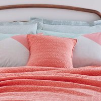Coral Square Cushion Coral (Red)