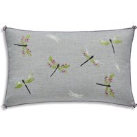 Embroidered Dragonfly Cushion Lilac (Purple)
