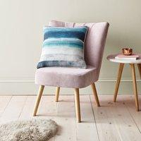 Blue Watercolour Stripe Cushion Blue