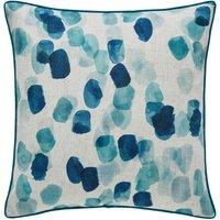 Blue Watercolour Spot Cushion Blue