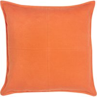Large Orange Patchwork Felt Cushion Orange