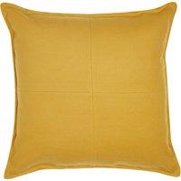 Large Ochre Patchwork Felt Cushion Ochre (Yellow)