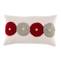 Lori Red Floral Cushion Red