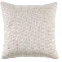 Silver Knit Cushion Silver