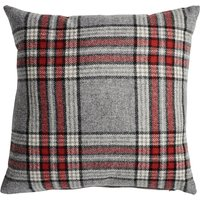 Harvey Red Check Cushion Red