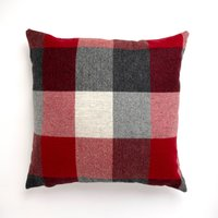 Large Heritage Check Red Cushion Red