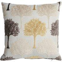 Trees Velvet Cushion Grey
