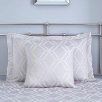 Geo Grey Jacquard Square Cushion Grey