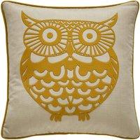 Ochre Owl Cushion Ochre (Yellow)