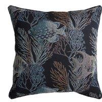 Dorma Azure Large Blue Cushion Black