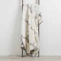 Thermosoft Natural Stag Blanket Natural