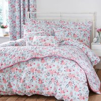 Sakura Duck Egg Blue Reversible Duvet Cover and Pillowcase Set Blue
