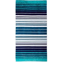 Blue Striped Beach Towel Blue